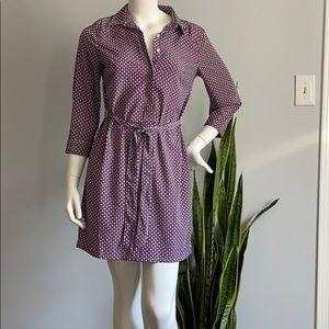 Banana Republic Geometrical Pattern Shirt Dress